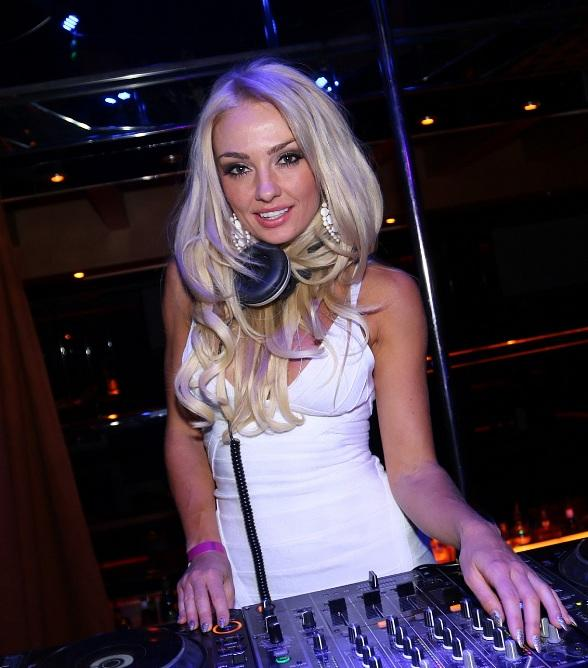Brooke Evers in DJ Booth at Crazy Horse III