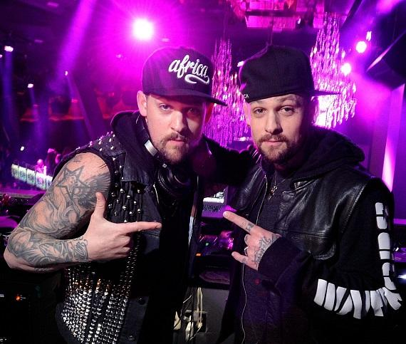 Brothers Joel and Benji Madden do a DJ set at Chateau Gardens