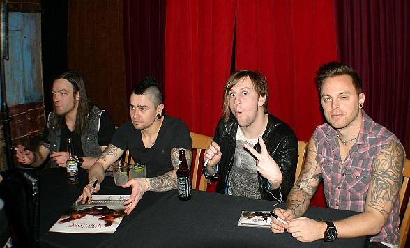 Welsh Heavy Metal Band Bullet for My Valentine Holds Listening Party at House of Blues