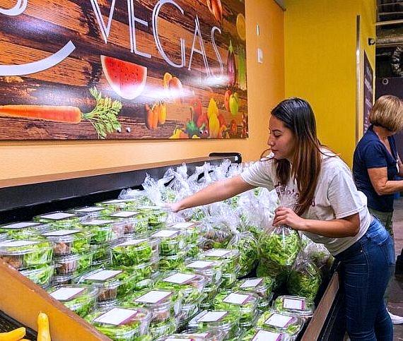 130 pounds of Evercress mixed greens were delivered to Catholic Charities of Southern Nevada