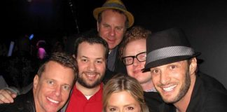"Chris Franjola, RPM's Director of Entertainment Anthony Pecora, Steven Marmalstein (Head Writer), Brad Wollack, Josh Wolfe and ""Bachelor Pad"" Season One winner Natalie Getz"