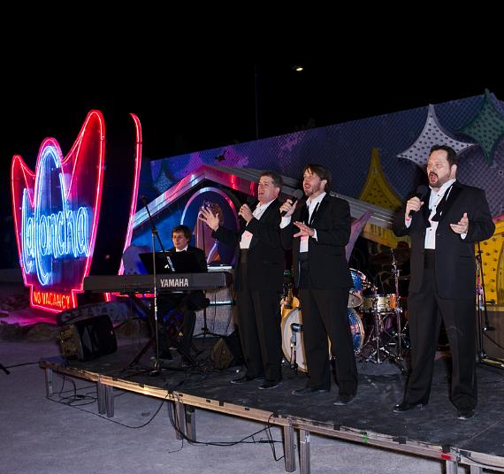 The Phat Pack performs at the Neon Museum's Boneyard Bash