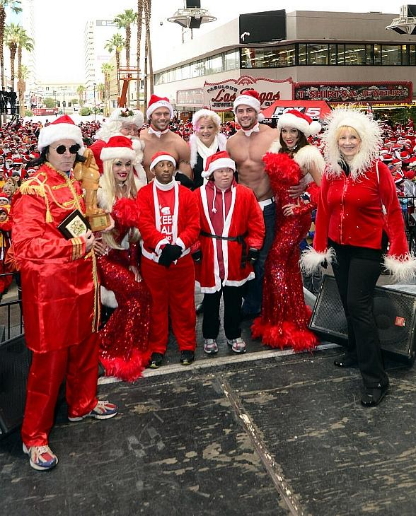 VIPS at Santa Run included Mayor Carolyn Goodman, members of Chippendales and kids from Opportunity Village