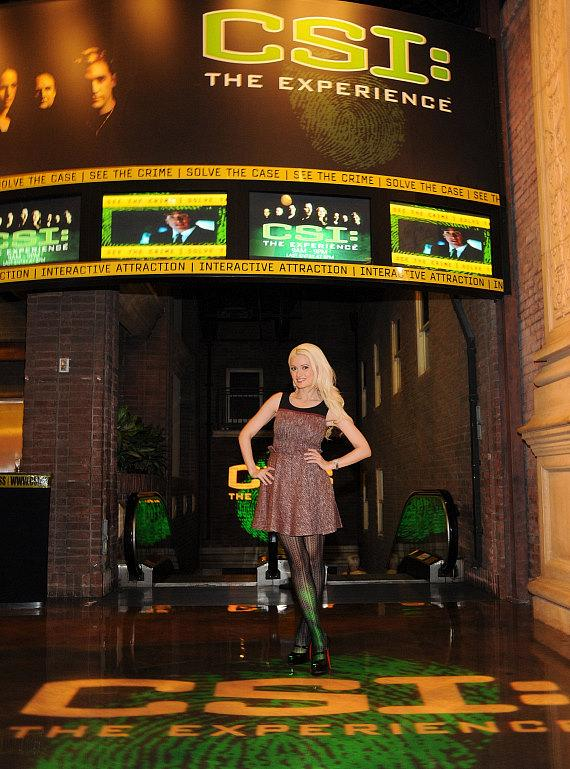 Holly Madison at CSI: The Experience at MGM Grand