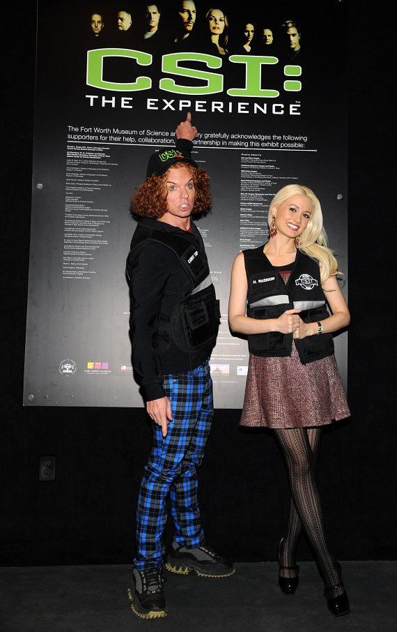 Carrot Top and Holly Madison at CSI: The Experience at MGM Grand