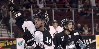 Wranglers center Scott Campbell scores in overtime to secure a 3-2 win for Las Vegas