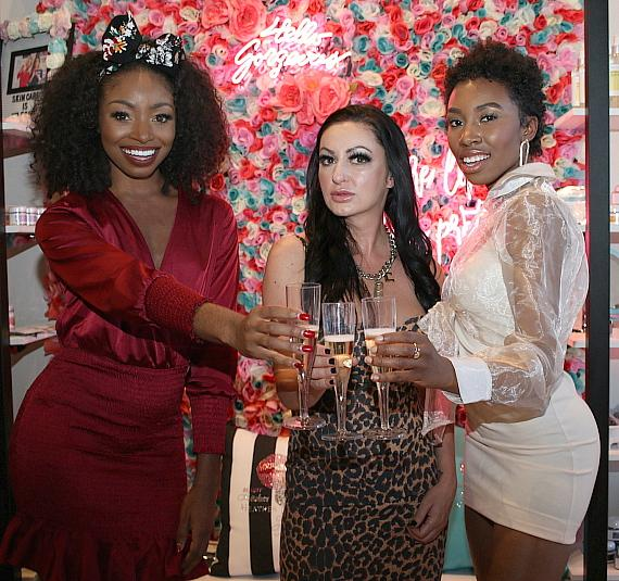 Candace Rice – Heather Marianna – Carrie Bernans Toast to a Successful Yaaganix Launch at Beauty Kitchen Boutique