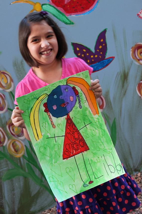 Candlelighters Kid Libby with her art