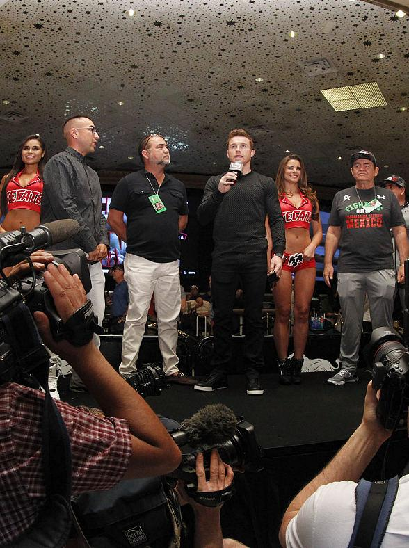 Canelo vs. Khan Fighters Arrive at MGM Grand in Las Vegas