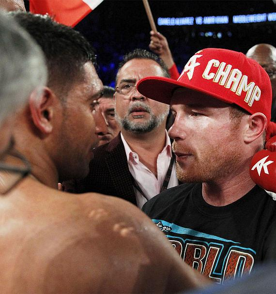 """Canelo Alvarez Knocks Out Amir """"King"""" Khan in Sixth Round to Retain The WBC, Ring Magazine and Lineal Middleweight World Championship Titles"""