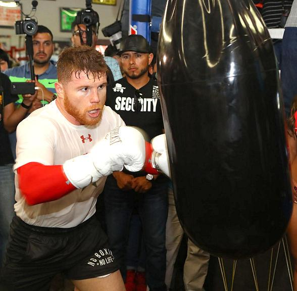 Canelo workout for Chavez