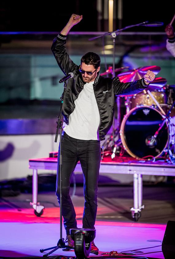 Capital Cities performs during OBC presented by X107.5 at Boulevard Pool at The Cosmopolitan