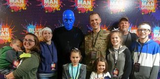 United States Air Force Captain Surprises Family at Blue Man Group