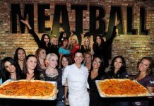 Carla Pellegrino with Friends and Family at Meatball Spot