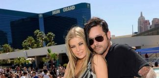 Carmen Electra and Fiance Rob Patterson at WET REPUBLIC