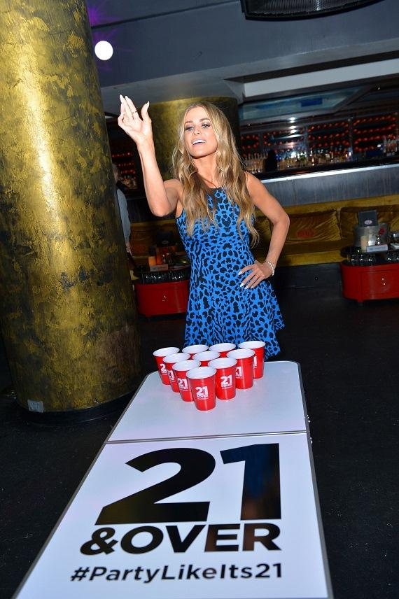 Actress/model Carmen Electra celebrated the Blu-ray & DVD release of 21 & Over at HAZE Nightclub at Aria in Las Vegas