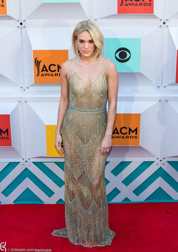 Carrie Underwood at ACM Awards at MGM Grand in Las Vegas