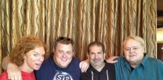 Carrot Top, Billy Gardell, Joe Sanfelippo and Louie Anderson at Palace Station in Las Vegas