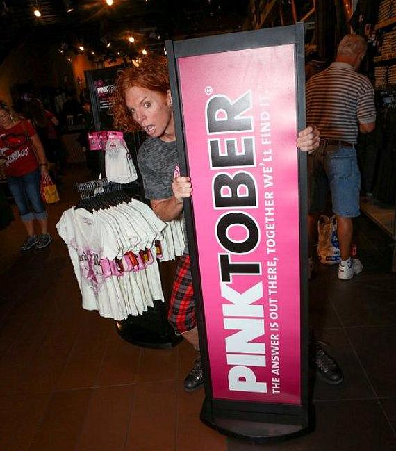 Carrot Top visits Hard Rock Cafe On The Strip in support of PINKTOBER
