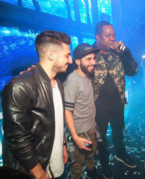 Cash Cash & Busta Rhymes on Stage at Marquee