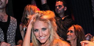 Cassie Scerbo with her birthday cake at Chateau Nightclub & Gardens