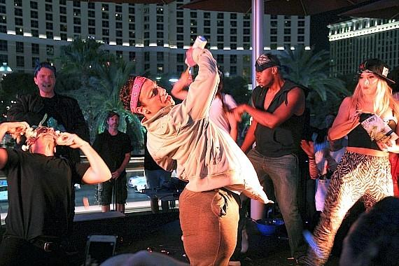 Performers from Cirque du Soleil Defeated Cast Members from Jersey Boys in Second Lip Sync Battle at Beer Park at Paris Las Vegas