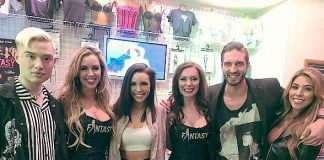 "Scheana Shay and Chester Lockhart of ""Sex Tips"" Visited FANTASY at Luxor Las Vegas"