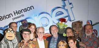 "Brian Henson, Murray SawChuck, Jenni Lee, Jeff Civillico, Chadwick Johnson, Cast of BAZ celebrate opening of ""Puppet Up! - Uncensored"" at The Venetian"