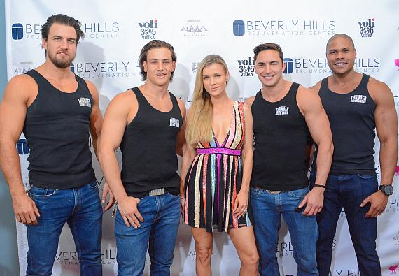 Cast of Thunder From Down Under at Beverly Hills Rejuvenation Center Downtown Summerlin's Grand Opening Event