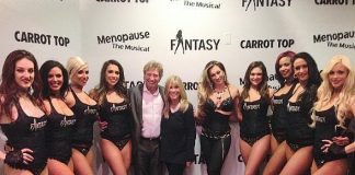 Nigel Lythgoe and Anita Mann, producer of FANTASY, with the cast