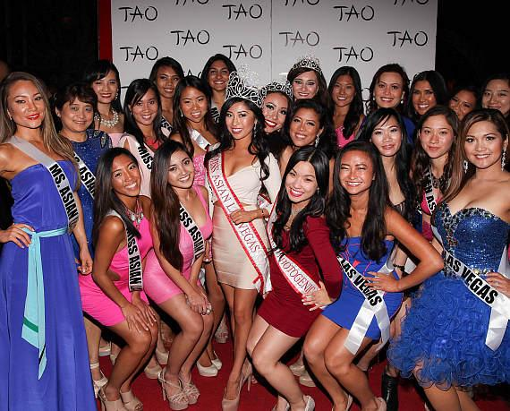 Catherine Ho and Miss Asian Las Vegas Contestants at TAO