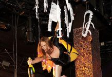 Champagne delivery at Veuve Clicquot's Yelloween at TAO Las Vegas