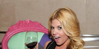 Chanel West Coast sips on wine while dining at N9NE Steakhouse inside Palms Casino Resort
