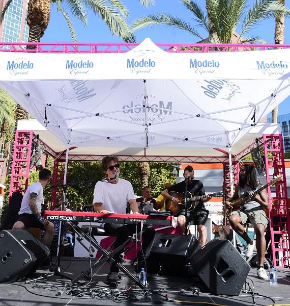 "Billboard Music Award-Winner Charlie Puth Entertains the Crowd at GO Pool at Flamingo Las Vegas with Hit Songs Including ""See You Again"""