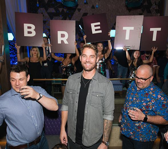 Country Star Brett Young Celebrates Official Bachelor Party at OMNIA Nightclub Las Vegas inside Caesars Palace