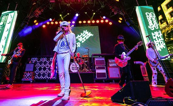 Rock N' Roll Legends Cheap Trick Take Over Fremont Street Experience During Free Downtown Rocks Concert