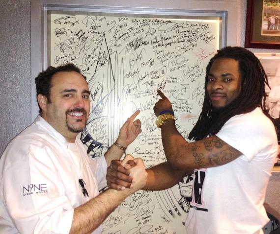 Chef Barry Dakake and Richard Sherman