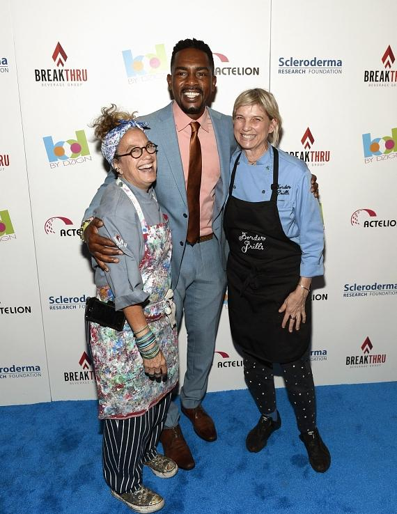 Chefs Susan Feniger and Mary Sue Milliken with Bill Bellamy