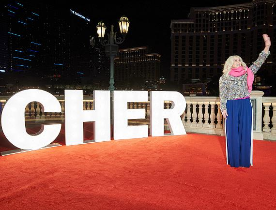 Cher at Fountains Show Debut at Bellagio