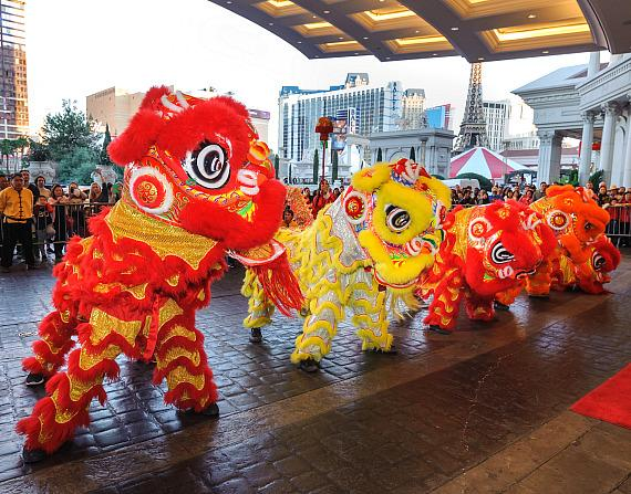 Caesars Entertainment Las Vegas Resorts Celebrate Lunar New Year With Ribbon Cutting and Lion Dance Parades