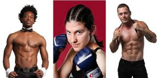 """Meet UFC's Roxanne Modafferi plus Chippendales DancersDemitri Blizzeard and Ryan Worley at the 3rd Annual """"Mike Hammer Celebrity Go-Kart Race,"""" a Benefit for Veterans on Oct. 22 in Las Vegas"""