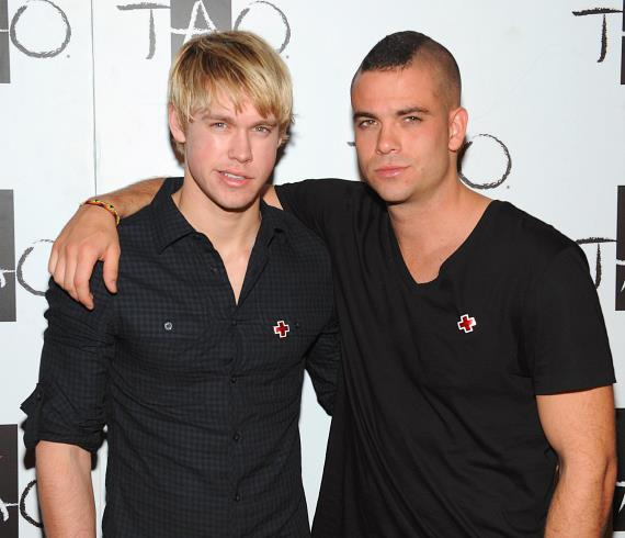 Chord Overstreet and Mark Salling at TAO red carpet