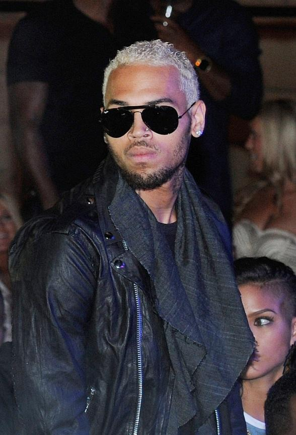 Chris Brown Parties at Chateau Nightclub & Gardens