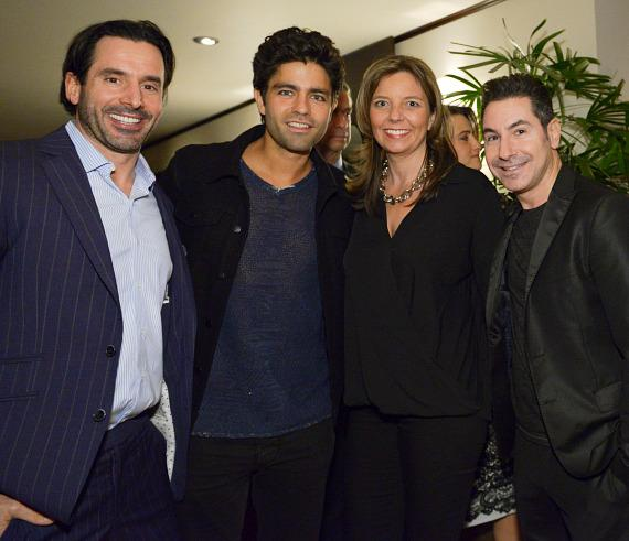 Chris Gialanella, Adrian Grenier, Pien Koopman and Todd Krim attend ONE DROP event in Beverly Hills