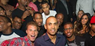 Blake Griffin, Grant Hill and Chris Paul at TAO