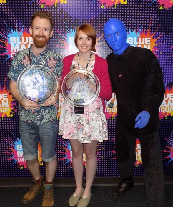 """""""Harry Potter"""" Actor Chris Rankin Attends Blue Man Group at Luxor Hotel and Casino in Las Vegas"""
