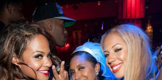Christina Milian with friends at TAO