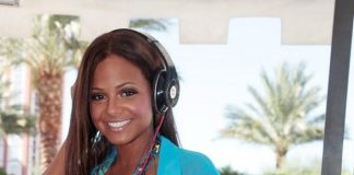 Christina Milian in DJ booth at Luxury Pool at The Palazzo