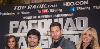 Clash in Cotai 2 Main Event Fighters Manny Pacquiao and Chris Algieri