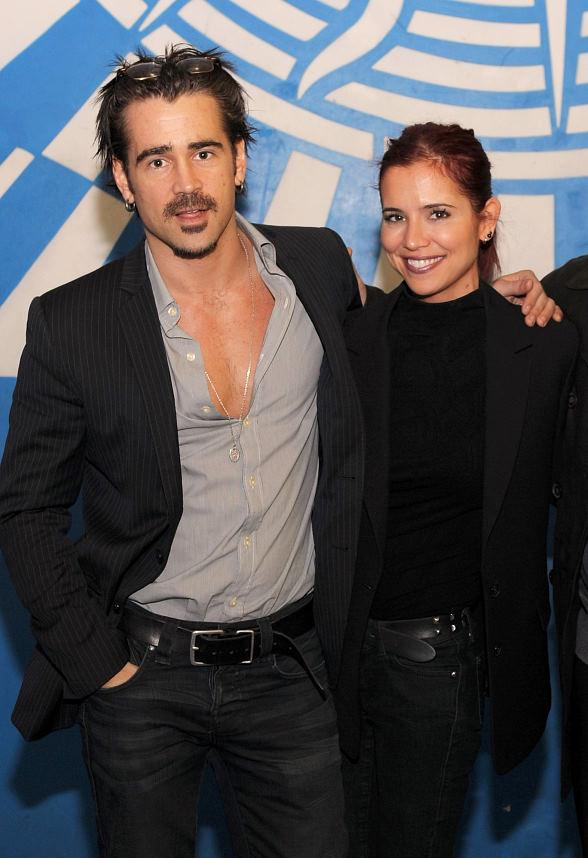 "Colin Farrell and his sister Claudine Farrell backstage at ""O"""